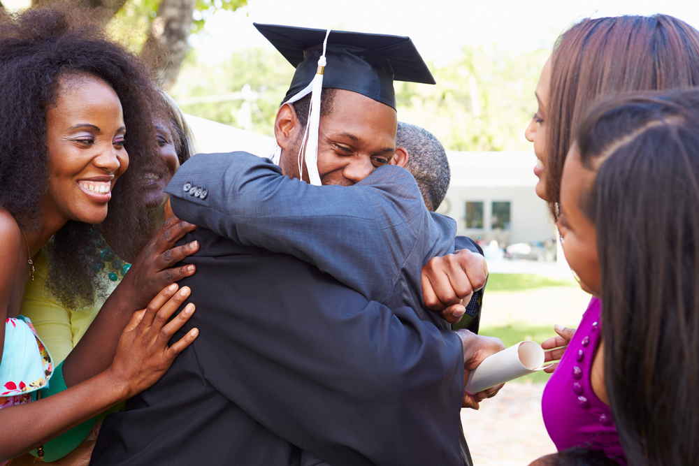 African students celebrating graduation