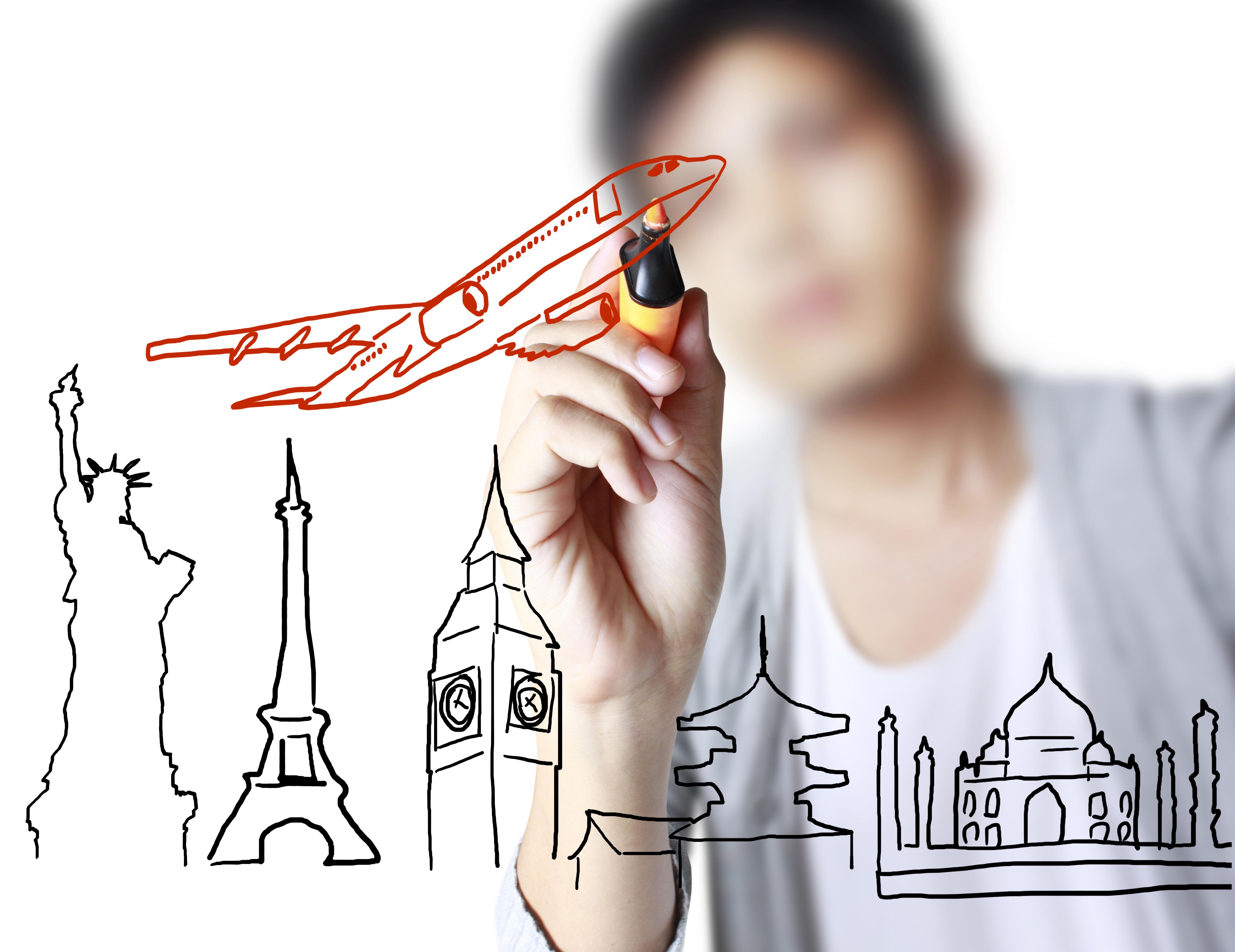 International student illustration