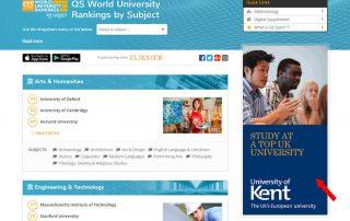 Subject Rankings Advertising