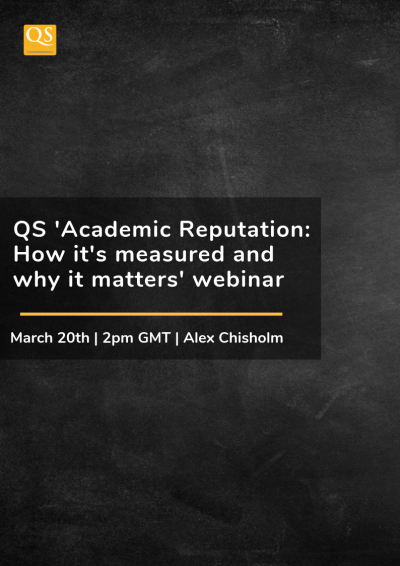 QS Academic Reputation webinar cover image