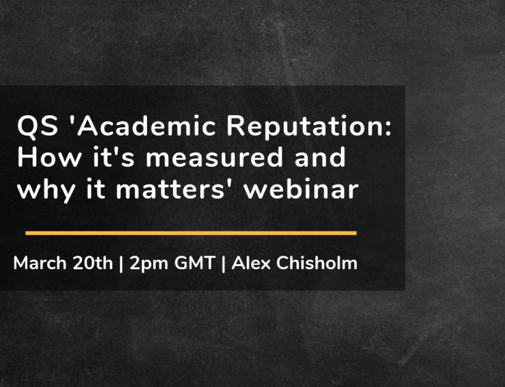 Webinar on Demand: Academic Reputation: How it's measured and why it matters