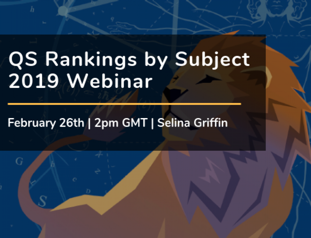 QS Rankings by Subject 2019 Webinar
