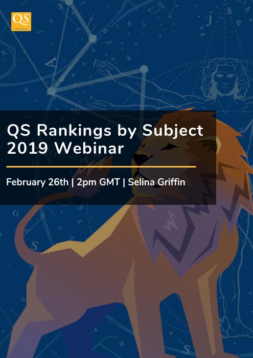 Webinar on Demand: QS Rankings by Subject 2019 - QS