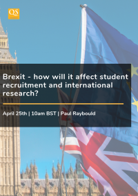 Webinar cover image: Brexit - how will it affect student recruitment and international research?