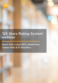 Cover image for the March 2019 webinar highlighting QS Stars