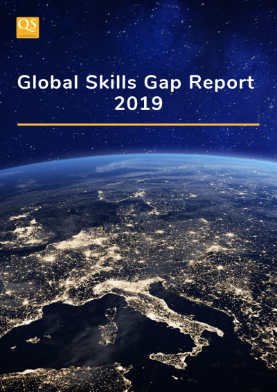 Front cover of the QS Global Skills Gap Report 2019