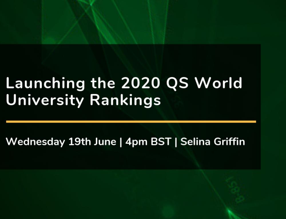 Launching the 2020 QS World University Rankings