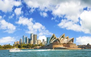 Sydney Harbour image with blog post 'How Australia Emerged as a Growing Force in the 2020 QS World University Rankings'