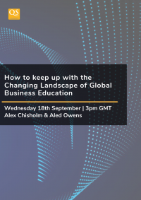 image cover for webinar 'How to Keep Up With The Changing Landscape of Global Business Education'