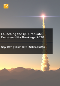 Webinar cover image for Launching the QS Graduate Employability Rankings 2020