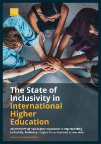 image cover for report 'The State of Inclusivity in International Higher Education'
