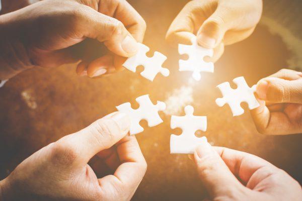 Puzzle pieces image future of interdisciplinary institution