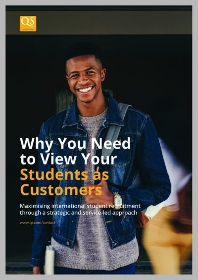 Cover image for white paper Why you need to view your students as customers